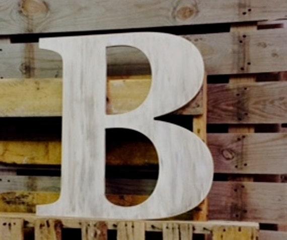 Wedding guest book big wooden letter b distressed alphabet for Big wooden letter b