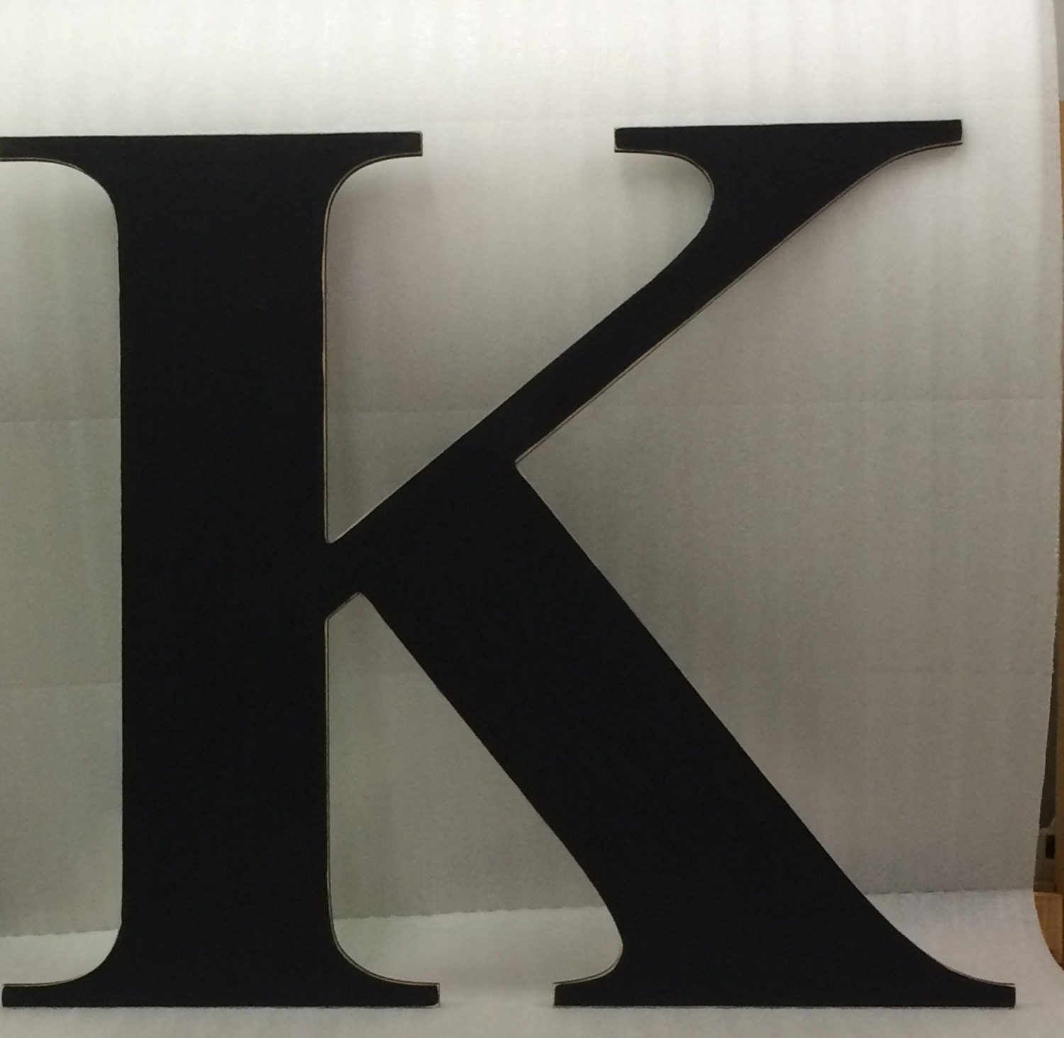 big wooden letter k capital 36 wedding guest book With big wooden letter k
