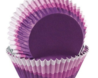 Purple Ombre ColorCups Greaseproof Cupcake Liners Baking Cups Muffin Cups - purple cupcake liners