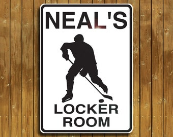 Personalized Hockey sign. Solid aluminum, custom made