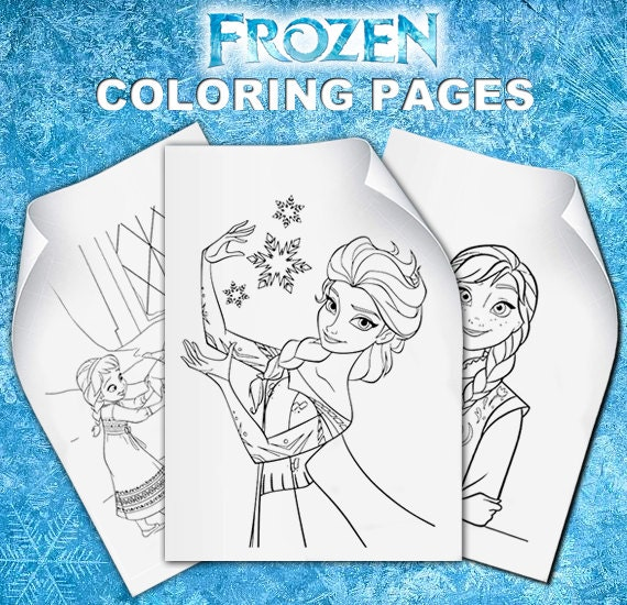 Frozen Coloring Pages A4 : Disney frozen coloring pages elsa birthday