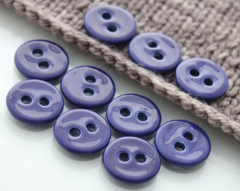 "10 Small Cobalt Blue Ceramic Buttons (21 mm / 0.8"")"