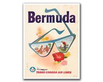 Retro Travel Poster Art Bermuda Sports Home Decor Vintage Print (H255)