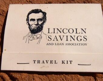 Vintage Lincoln Savings & Loan Association Sewing Travel Kit