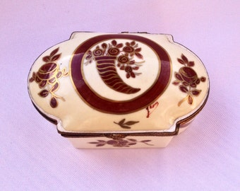 French Crimson and Cream Vintage Jewelry Box - Perfect Wedding/Bride, Mother of the Bride, Maid of Honor Gift