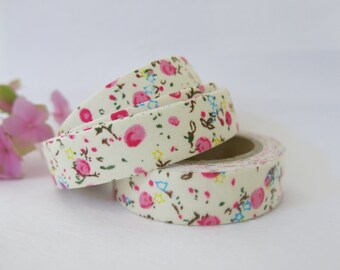 Floral Fabric Tape / Adhesive Decoration Fabric Tape  FT046