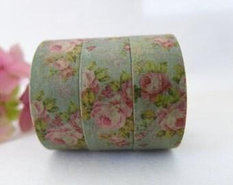 Floral Washi Tape / Decorative Washi Paper Masking Tape  WT004