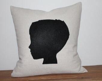 CUSTOM Silhouette Pillow Cover