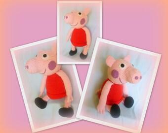 Crochet Peppa Pig - PDF Tutorial Pattern