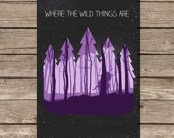 Where the wild things are movie poster minimalist art geekery children's nursery art