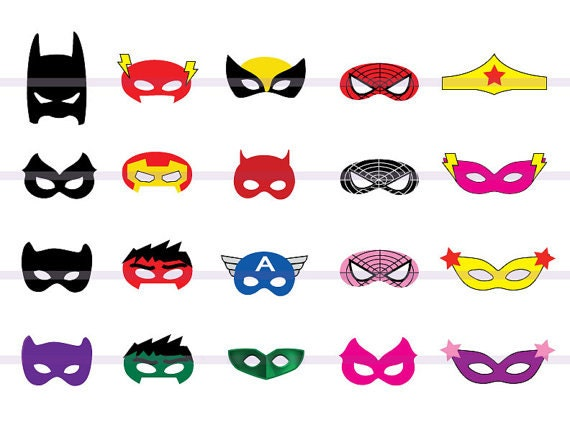 Instand Dl Superhero 20 Masques D 233 Coupe Birthday Party