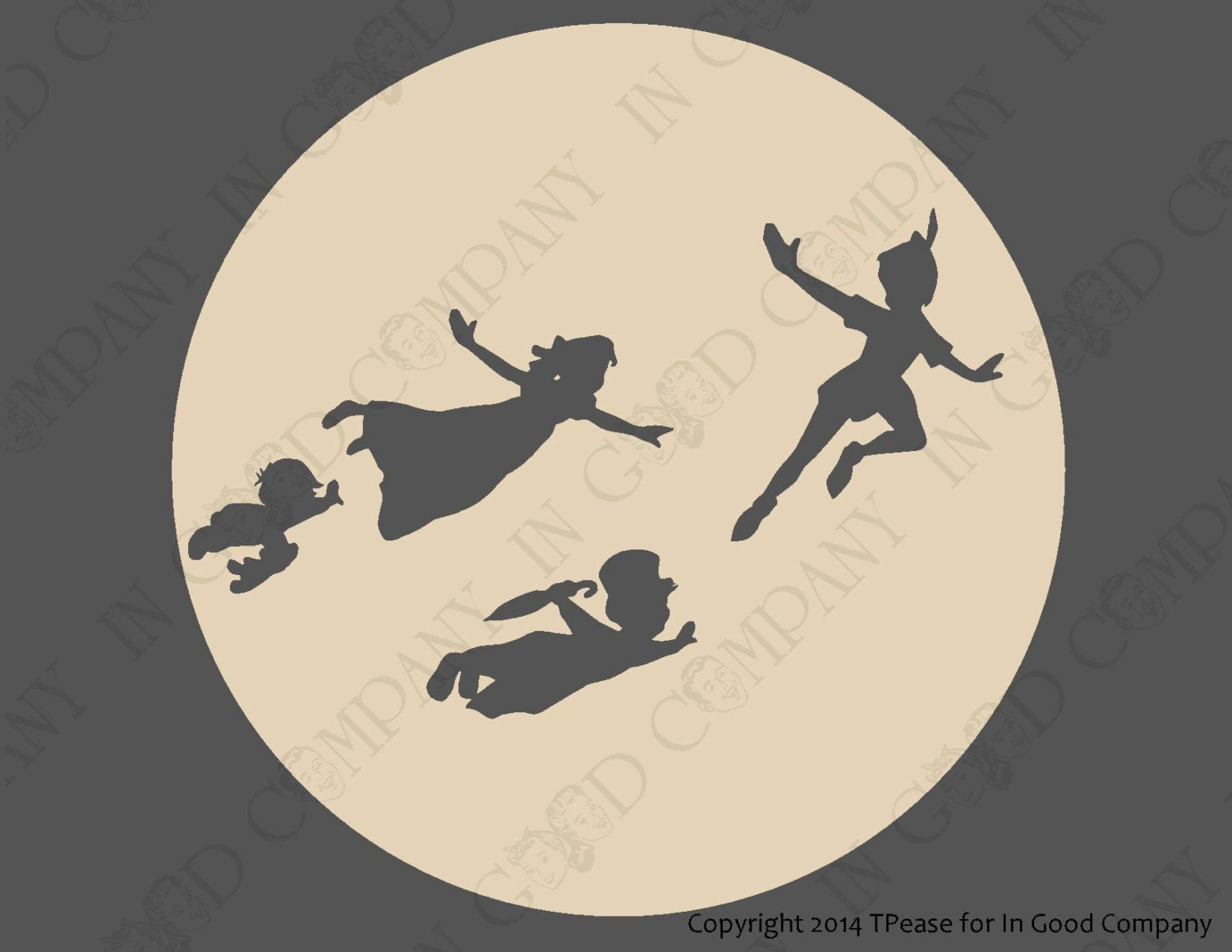 peter pan inspired wall decal sticker 8 or 10. Black Bedroom Furniture Sets. Home Design Ideas