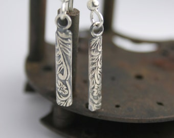 Sterling Silver Earrings - Dangle - Handmade