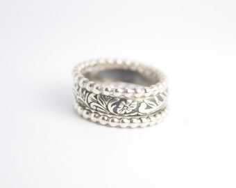 Wedding Sterling Silver Stacking Ring Set
