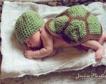 newborn crochet turtle, photo prop,,baby turtle prop, baby turtle set, crochet baby turtle, newborn turtle hat