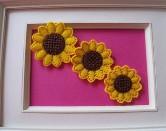 Feltie Sunflower 3 Sizes to Choose From Can be Clippies