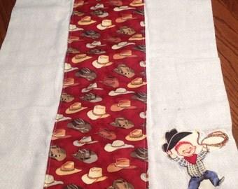 Yeehaw Adorable Cowboy Burp Cloth
