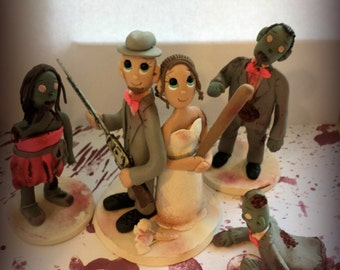 "Custom Zombie ""Walking Dead""  Wedding Cake Topper"