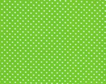 Robert Kaufman Pimatex Basics Tiny Polka Dots in Lime 100% Cotton by Ann Kelle