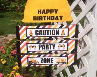 Construction Birthday Yard Sign