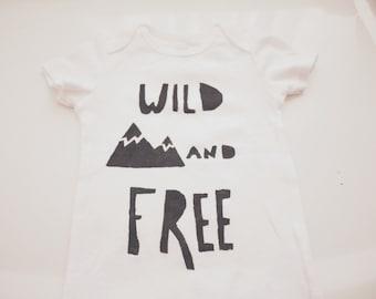Baby Bodysuit- Wild and Free