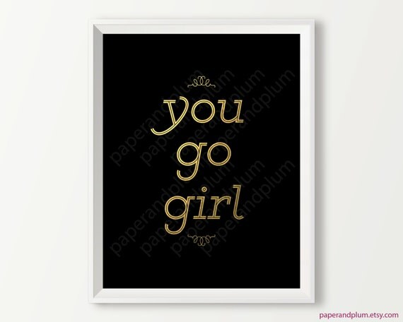 Items similar to chic black and gold inspirational quote for Inspirational items for office