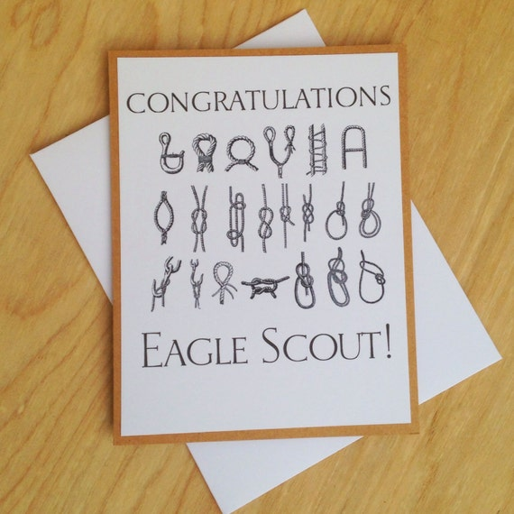 Items Similar To Eagle Scout Congratulations Card On Etsy