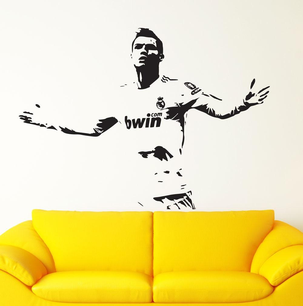 Charmant Real Madrid Decal Cristiano Ronaldo Wall Decal Sticker CR7 Decal Footballer Soccer  Wall Art Ronaldo Decal