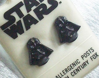 Original Stars Wars Vintage Earrings / New Old stock / 1977 / Never worn / Show your support of the dark side