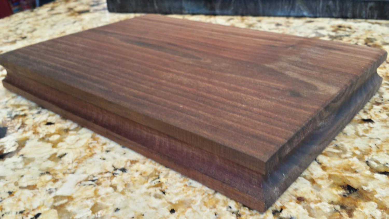 Reclaimed black walnut barn wood cutting board for Recycled wood board