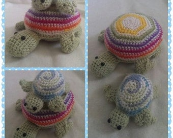 Mommy and baby sea turtle dolls