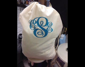 Laundry Bag with Monogram For Men and Women, Makes great graduation gifts!