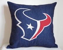NFL Houston Texans pillow, Houston Texans decor pillow cover,Houston Texans gift