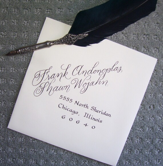 Items similar to Wedding Calligraphy hand lettered