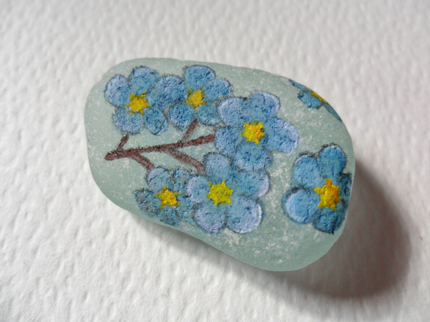 Alaska For Me Not state flower Acrylic by ShePaintsSeaglass