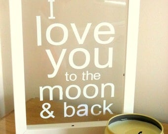 i love you to the moon back frame