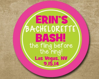 Personalized Bachelorette Sticker, Bachelorette Party, Save the Date, Fling Before the Ring, Girls Night Stickers, Wedding Sticker, Bachelor