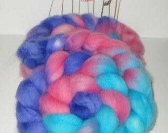 Superwash Merino Wool Roving - Hand Dyed Roving for Spinning