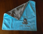 Personalized Baby Lovey, Personalized Baby blanket, Little Brother Lovey, Boy Lovey, Embroidered Lovey, Baby Blanket, Simply Soft Creation