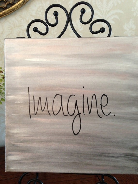 imagine john lennon word art lyrics wall art custom. Black Bedroom Furniture Sets. Home Design Ideas