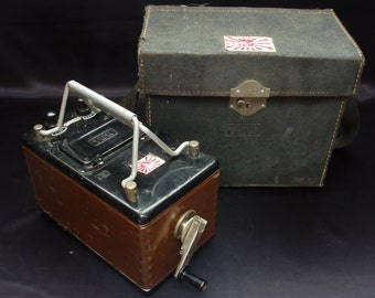 WWII Imperial Japan Insulation Resistance Tester w Military Flag Stickers Made in May 1945