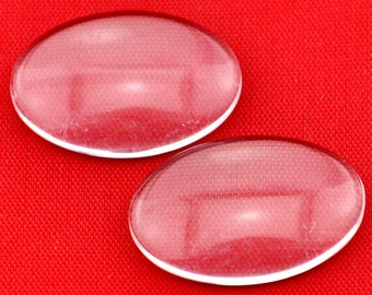 10pcs 30*40mm Oval Clear Glass Cabochon Cover Cabs Charm