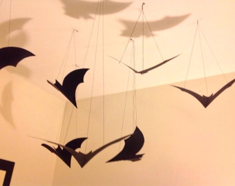 Set of 50 hanging Halloween bats, made to order