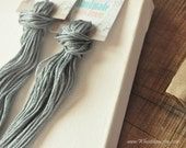 Grey Cotton Embroidery Thread Floss, 6 cotton skeins, hand dyed  #169, craft supply, stardust color.
