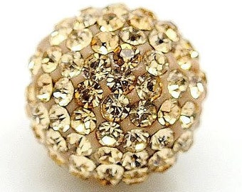 High Quality 10PCS Crystal stones 10mm Loose Spacer Bead Pave Disco Ball Crystal Rhinestone Beads Fit DIY Bracelets Necklaces