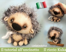 098IT On tutorial crochet Hedgehog Kuka. Amigurumi Toy-PDF Of Pertseva Etsy
