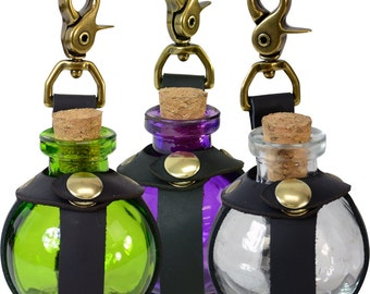 Small Potion Bottle with Clasp - 5 Colors Available - #DK1035