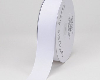 "2"" White Grosgrain Ribbon- 2 inch Ribbon- 5 Yards of solid Grosgrain Ribbon-WHOLESALE GROSGRAIN"
