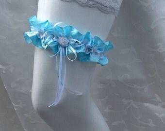 Garter blue  / white Nr. 27