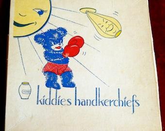 Vintage Childrens' Handkerchiefs -- Adorable in Box!